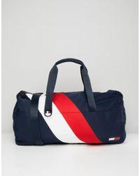 Tommy Hilfiger - Duffle Chevron Bag In Blue - Lyst