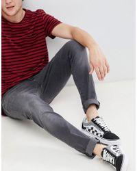 Wrangler - Bryson Skinny Jeans Grey Zone - Lyst