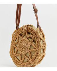 South Beach - Tan Crochet Cross Body Bag - Lyst