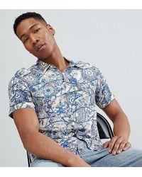 c588894ab2d Reclaimed (vintage) - Inspired Short Sleeve Retro Mosaic Print Shirt - Lyst