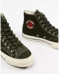 38abbf7584be Converse - Chuck Taylor All Star  70 Hi Trainers In Green 162371c - Lyst