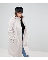 ASOS - Oversized Coat With Funnel Neck - Lyst