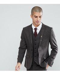 Heart & Dagger - Skinny Suit Jacket In Weave - Lyst