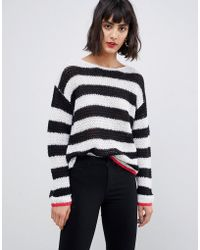 Pieces - Stripe Jumper - Lyst