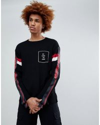 D-ANTIDOTE - Oversized Merino Sweatshirt With Sleeve Print - Lyst