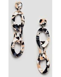ASOS - Statement Earrings In Linked Resin Shape Design - Lyst