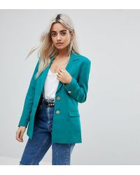 ASOS - Tailored Mansy Blazer With Gun Metal Buttons - Lyst