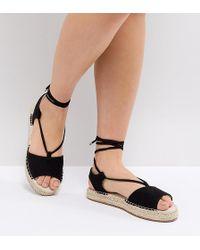 ASOS - Jump On Tie Leg Espadrille Sandals - Lyst
