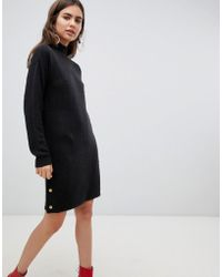B.Young - Sweater Dress With Gold Button Detail - Lyst
