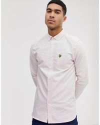 Lyle & Scott - Long Sleeve Oxford Shirt In Light Pink - Lyst