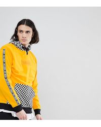 Vans - Hoodie With Checkerboard Hood In Yellow Exclusive To Asos - Lyst