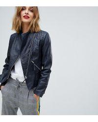 Esprit - Real Leather Biker Jacket - Lyst