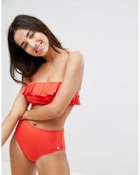 Whistles - Ruffle Bandeau Bikini Top - Lyst