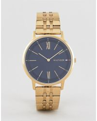 Tommy Hilfiger - Cooper Bracelet Watch In Gold 41mm - Lyst