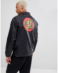 Santa Cruz - Coach Jacket With Classic Dot Back Print In Black - Lyst