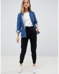 B.Young - Cropped Trousers With Waist Tie - Lyst