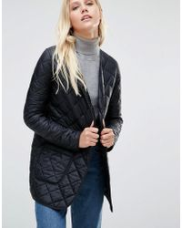 Cooper & Stollbrand - Quilted Bomber Jacket In Black - Lyst