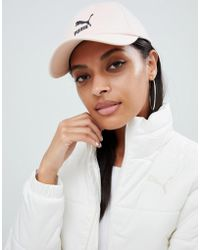PUMA - Exclusive Logo Cap With Taping In Pink - Lyst
