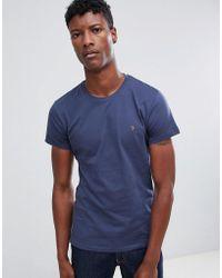 Farah - Farris Slim Fit Logo T-shirt Navy - Lyst