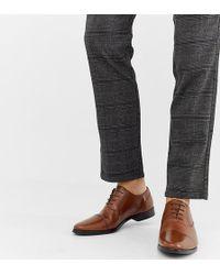 ASOS - Zapatos Oxford de cuero tostado con detalle de puntera de - Lyst