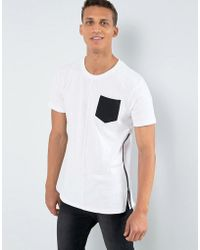 Loyalty & Faith - Loyalty And Faith Longline Pocket T-shirt With Zip Detail - Lyst