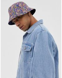 Pretty Green - All Over Paisley Print Reversible Bucket Hat - Lyst