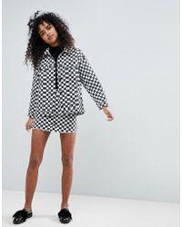 Monki - Checker Board Skirt - Lyst