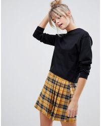 Pull&Bear - Long Sleeved Top In Black - Lyst
