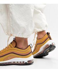 Nike - Gold Tan Air Max 97 Trainers - Lyst