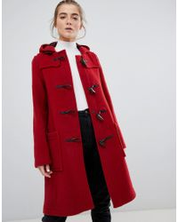 Gloverall - Slim Mid Length Duffle Coat In Wool Blend - Lyst