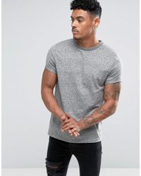 ASOS - T-shirt With Roll Sleeve In Heavyweight Twisted Jersey - Lyst