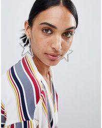 LoveRocks London - Diamante Star Statement Earrings - Lyst