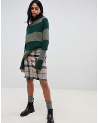 Barbour - Wool Mini Skirt In Check - Lyst