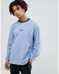 Volcom - Noa Noise Sweatshirt With Embroidered Logo In Blue - Lyst