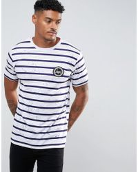 Hype - T-shirt In White With Stripes And Speckle - Lyst
