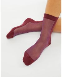PS by Paul Smith - Ps By Paul Smith Contrast Mesh Sock - Lyst