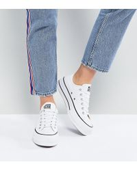 18d040682b4ab0 Converse - Chuck Taylor All Star Platform Ox Trainers In White - Lyst