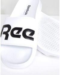 Reebok - Sandalias blancas con abertura cn0736 de - Lyst