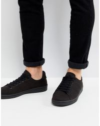 Fred Perry - B721 Tricot Trainers In Black - Lyst