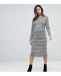 ASOS - Twist Back Bodycon Dress In Stripe - Lyst