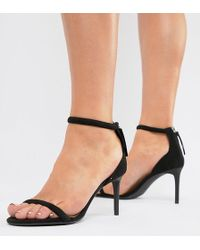 9f71e40742b Bershka - Barely There Skinny Sandal In Black - Lyst
