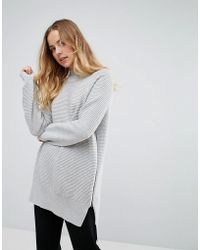 French Connection - Ottoman High Neck Oversized Sweater - Lyst