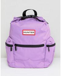 HUNTER - Thistle Colourblock Mini Nylon Backpack - Lyst