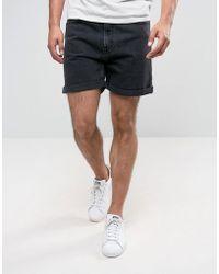 Weekday   Vacant Denim Shorts Glory Black   Lyst