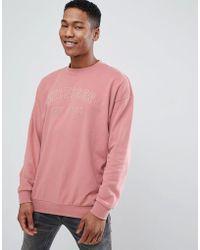 Tommy Hilfiger - Unisex Sweatshirt Embroidered Logo In Washed Pink - Lyst