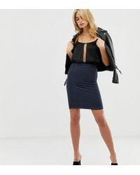 Y.A.S - Teresa Ribbed Panel Pencil Skirt - Lyst