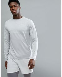 Nike - Dry Medalist Knitted Long Sleeve Top In Grey 891424-027 - Lyst