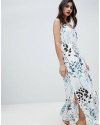 Soaked In Luxury - Tonal Floral Strappy Maxi Dress - Lyst
