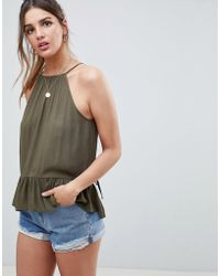 ASOS - Trapeze Top In Crinkle - Lyst