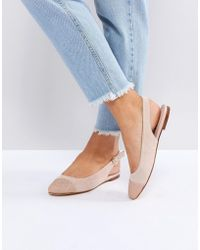 Office - Flossy Glitter Toe Cap Flat Shoes - Lyst